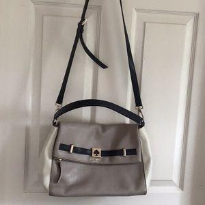 Kate Spade Cream, Taupe, Black Bag, Gold hardware